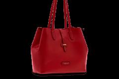 Shopping manico ampio rosso